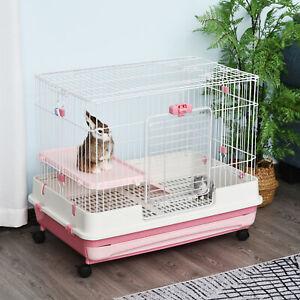 Pawhut 32 Indoor Rabbit Cage Small