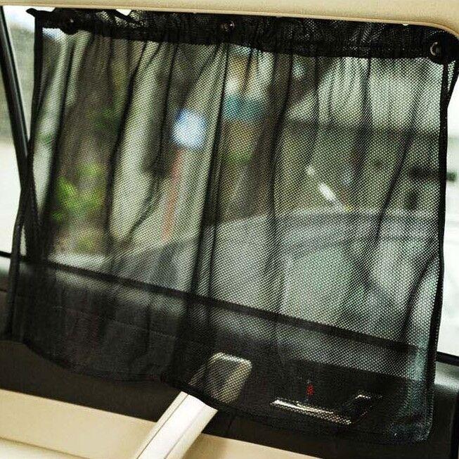 2X 50cm Car Sun Shade Side Window Curtain Auto Foldable UV Protection Removable