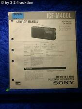 Sony Service Manual ICF M400L PLL Synthesized Receiver (#3094)