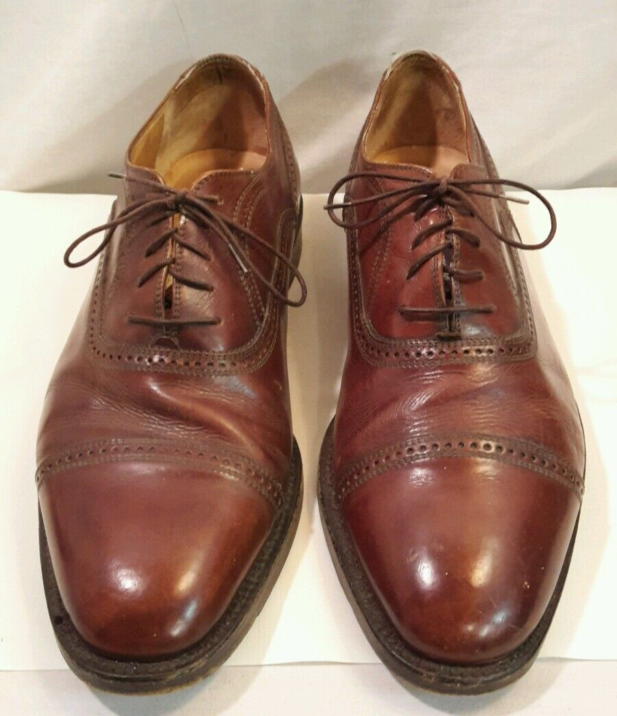 Bragano Cole Haan Cap toe Oxfords Uomo Shoes Made In Italy 5864 Pelle 10 1/2 D