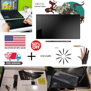 VEIKK-A30-Graphic-Art-Tablet-Drawing-Pad-With-Digital-Pen-4-Touch-Keys-10x6-034-USA