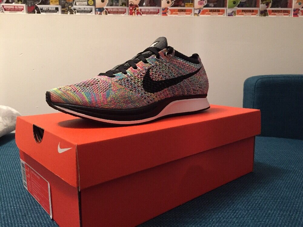 Nike flyknit racer mehrfarbigen 7,5 2016 ds selten!größe 7,5 mehrfarbigen bd5f48