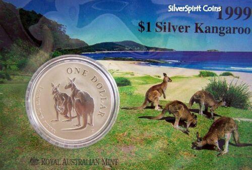 1999 KANGAROO SILVER 1oz Coin Carded