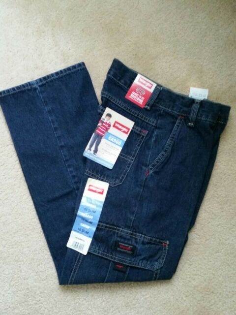Wrangler Boys Cargo Classic Denim Jeans