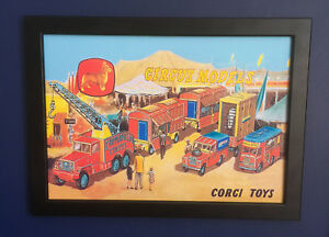 Corgi-Toys-Chipperfields-Circus-1960-039-s-Framed-A4-Size-Poster-Leaflet-Shop-Sign