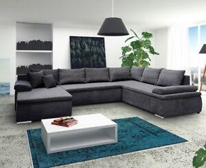 Ecksofa Rodrigo U Wohnlandschaft Wohnzimmer Elegant U Form Xxl Couch