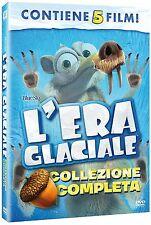 L' ERA GLACIALE - COLLEZIONE COMPLETA (5 DVD) COFANETTO UNICO, ITALIANO, NUOVO