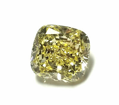 Real 2.11ct Natural Loose Fancy Yellow Color Diamond GIA Certified Cushion SI1    eBay