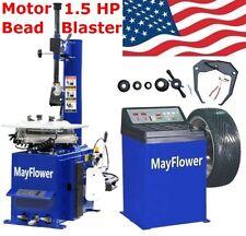 New 1.5 HP Tire Changer Wheel Changers Machine Combo Balancer Rim Clamp 950 680