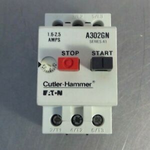 Cutler Hammer Motor Contactor A302GN Series A1 1.6-2.5Amps
