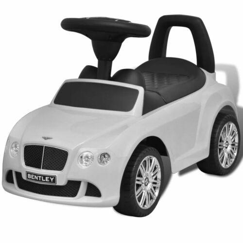 vidaXL Automobile a Spinta Bentley Bianca Giocattolo Cavalcabile Auto Bambini