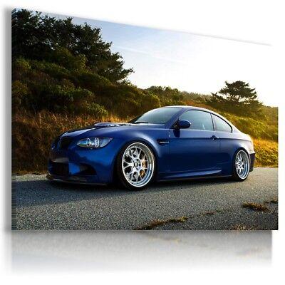 BMW M3 BLUE Super Sport Car Large Wall Canvas Picture ART  AU562 MATAGA