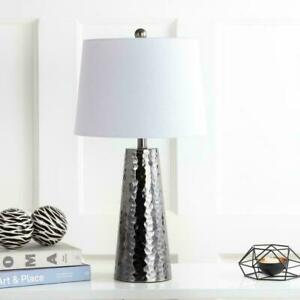 JONATHAN-Y-Wells-26-in-H-Black-Nickel-Hammered-Metal-Table-Lamp