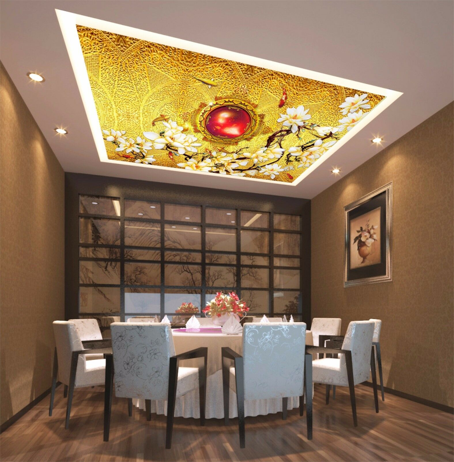 3D Carp 43 Ceiling WallPaper Murals Wall Print Decal Deco AJ WALLPAPER AU