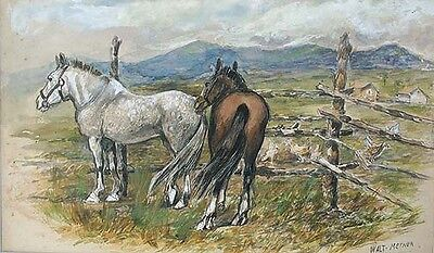 WALTER MEYNER Signed 1934 California Watercolor LISTED