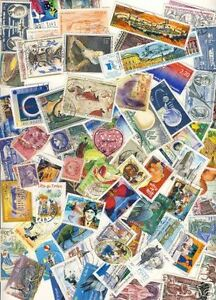Stamp-lot-stamps-france-differents-50-stamps-has-3500-stamps
