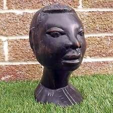 VINTAGE IN LEGNO INTAGLIATI A MANO-busto africana legno ETNICO TESTA INTAGLIO-AFRICA