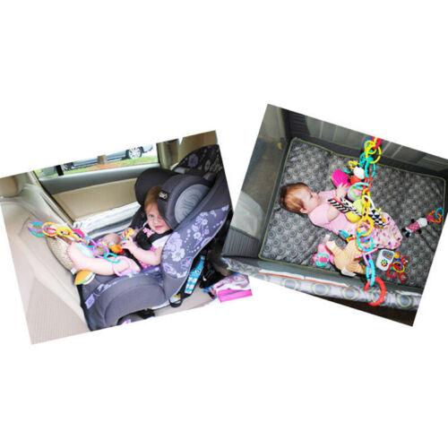 24Stk Set Kinderwagen Kette Regenbogen Buggy Kette Ringe Spielzeug Neu
