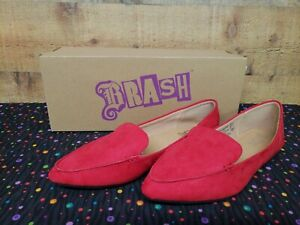 Brash-Fern-Red-Loafers-Women-039-s-Flat-Shoes-Size-8-New-With-Box
