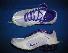 Nike Shox Navina Running Shoes Sneakers Womens 6 White Purple Grey Trainers Gym