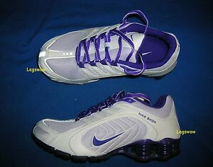 406599124694c9 Nike Shox Navina Running Shoes Sneakers Womens 6 White Purple Grey ...