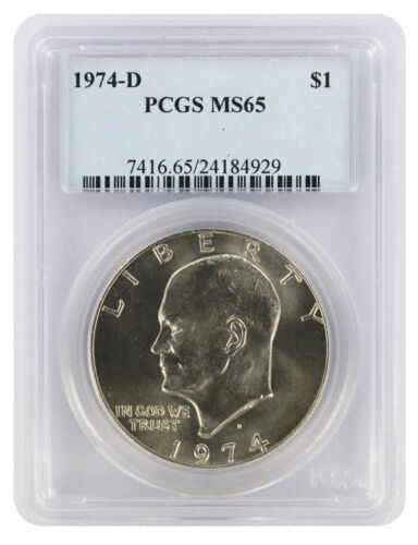 1974-D Eisenhower Dollar Ike MS65 PCGS 65 Mint State
