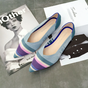 Womens-The-Pointed-Toe-Flats-Environmental-Fashionable-Shoes-Collection
