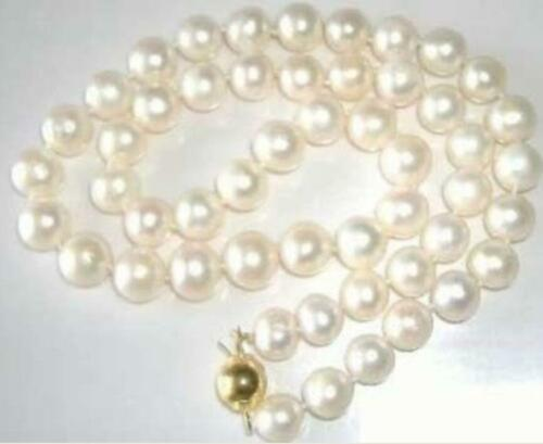 "10-11MM White SOUTH SEA Pearl Necklace 18/"" 14K CLASP AA++"