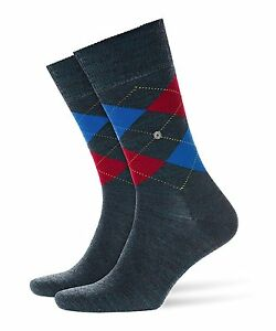 BURLINGTON-Men-039-s-1-Pair-Edinburgh-Wool-Mix-Argyle-Socks-6-5-11-Charcoal-7371