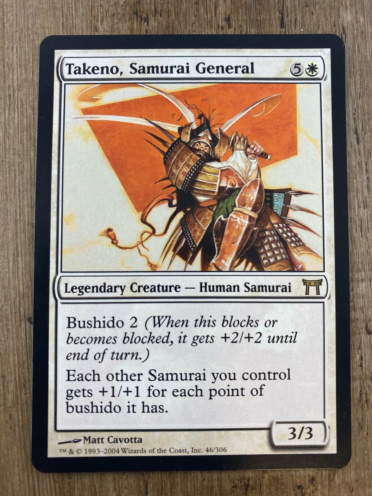 Samurai General x 4 Champions of Kamigawa NM Magic MTG CHK Takeno