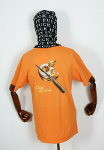 Huf Worldwide Footwear Skate Shoes T-Shirt Tee Omerta Russet Orange in M