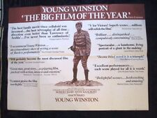 YOUNG WINSTON 1972 STEPHEN WARD VINTAGE  40X30inGENUINE UK QUAD FILM POSTER