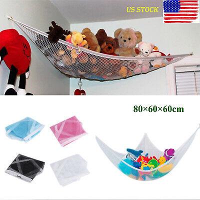 Children Toy Hammock Net Organize Stuffed Animals And Kids Toys Holder White GA
