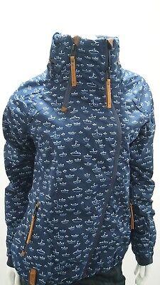 Details zu Naketano Ej Du Geile Schnalle Jacket Boat I Blue Damen Übergangsjacke Blau