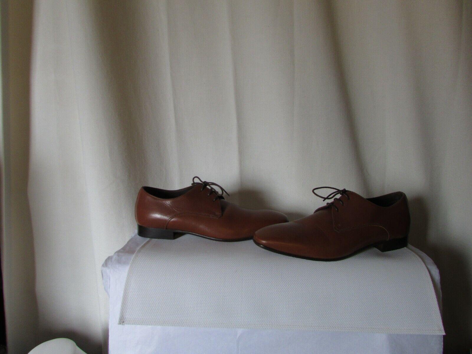 Chaussures derbies agnès b cuir fauve pointure 40