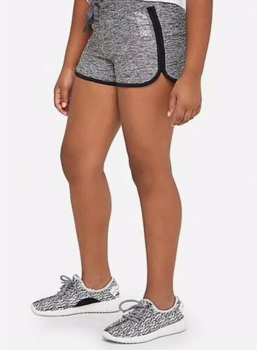 Justice Girl/'s Size 12 Sport Shorts in Graphite Heather New with Tags