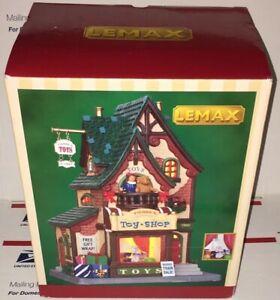 Lemax Christmas Village Pierre's Toy Shop Porcelain Lighted Building