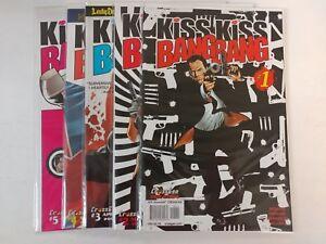 Alternative-comic-lot-Kiss-Kiss-Bang-Bang-1-2-3-4-5-VF-VF-Bagged-Boarded