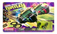 TEENAGE MUTANT NINJA TURTLES RC CARRERA 1:43 SCALE SLOT CAR RACETRACK