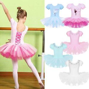 Child-Girl-Ballerina-Ballet-Dance-Dress-Kid-Gymnastic-Leotard-Tutu-Skirt-Costume