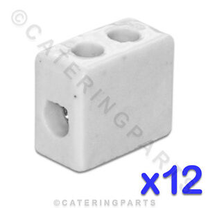 12x-CERAMIC-HIGH-TEMPERATURE-ELECTRICAL-CONNECTOR-BLOCKS-1-POLE-6mm-41A