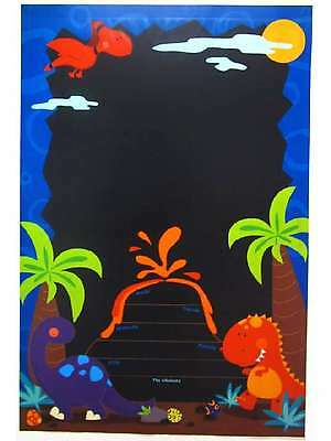 GIANT DINOSAUR ADHESIVE BLACKBOARD CHILDRENS KIDS BEDROOM WALL ART PLANNER MEMO
