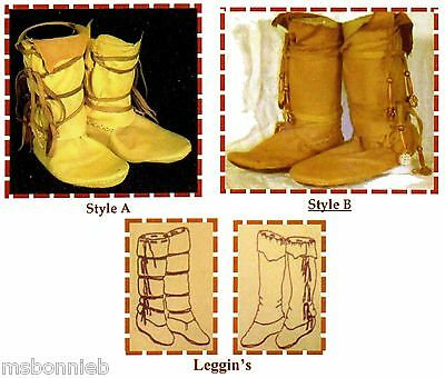 Native American Comanche Indian Moccasin - 3 Traditional Styles Sewing Pattern