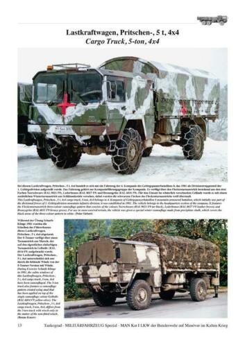 Cold War Warrior MAN KAT LKW 5-Tonner 7-Tonner 10-Tonner Manöver Tankograd 5081