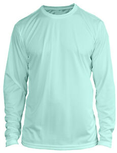 Image Is Loading Microfiber Long Sleeve Fishing Shirt Upf 50 Seafoam