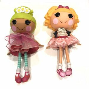 Lot-of-2-Lalaloopsy-Misty-Mysterious-Magician-amp-Pix-E-Flutters-Doll-12-034