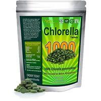 Chlorella Tablets (mega-pack 1000 Tablets). Organic Raw Non-gmo. 100% Pure Ch...