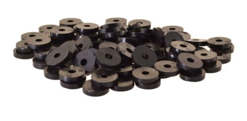 100 x Unterlegscheibe Gummi 20 x 6 x 4mm, schwarz