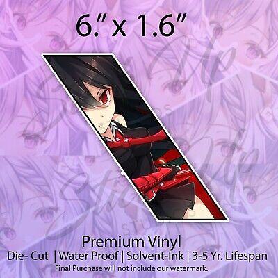 Premium Vinyl Sticker Decal Laptop Lewd Anime Girl Car Bumper Vinyl Sticker Decal Ecchi Waifu Kawaii Anime Girl Kawaii Anime Girl