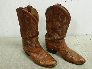 ba2da08d72f Details about Vintage Tony Lama EEL Skin Cowboy Boots, Men's Size 11-1/2 D,  0005, Black Label